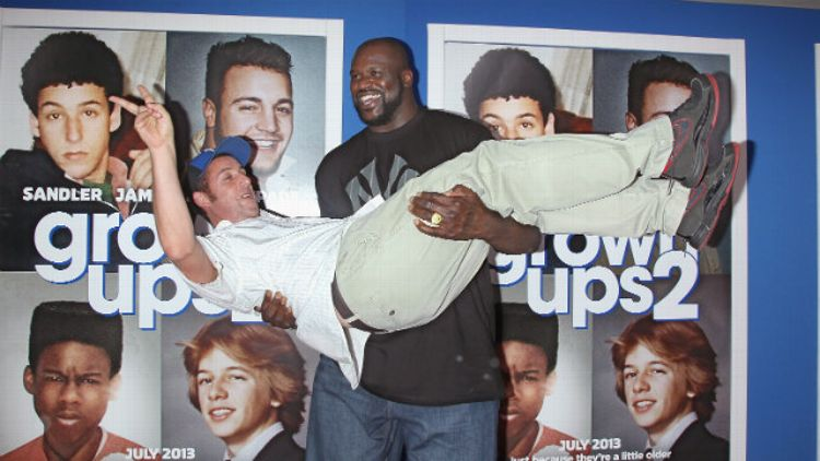 Adam Sandler and Shaq
