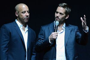 Actors Vin Diesel (L) and Paul Walker