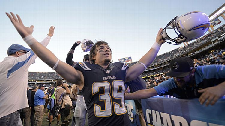 Danny Woodhead #39 of the San Diego Chargers