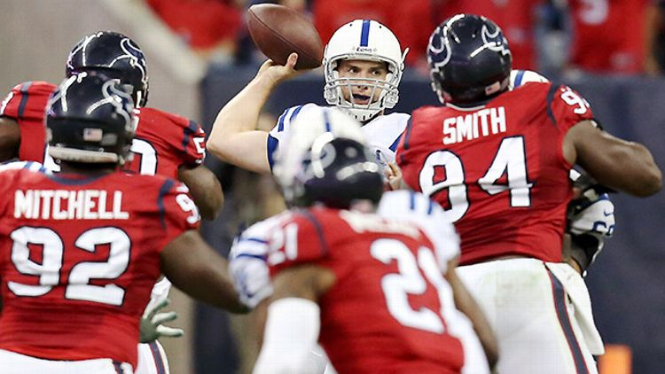 Indianapolis' Andrew Luck against Houston