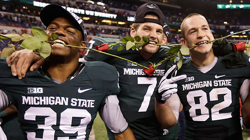 Michigan State celebrates its Rose Bowl berth