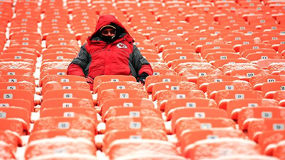 A lone Kansas City Chiefs fan