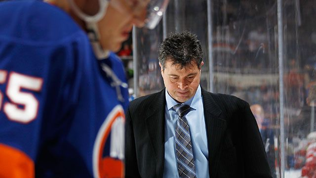 Head coach Jack Capuano of the New York Islanders