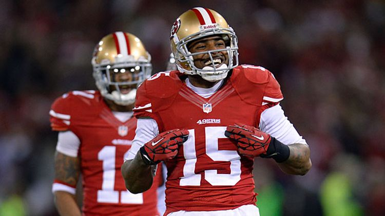 Michael Crabtree #15 of the San Francisco 49ers