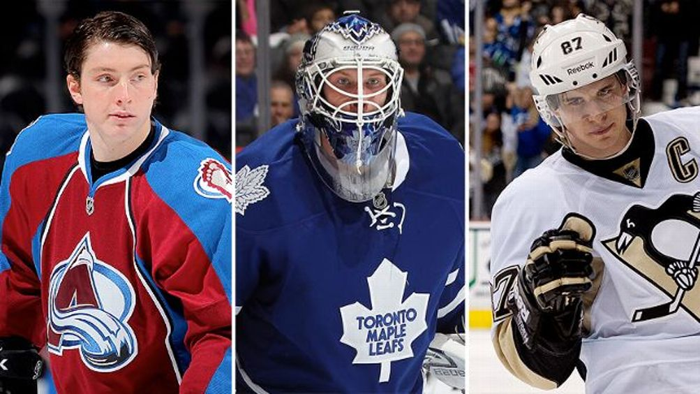 Matt Duchene, James Reimer and Sidney Crosby