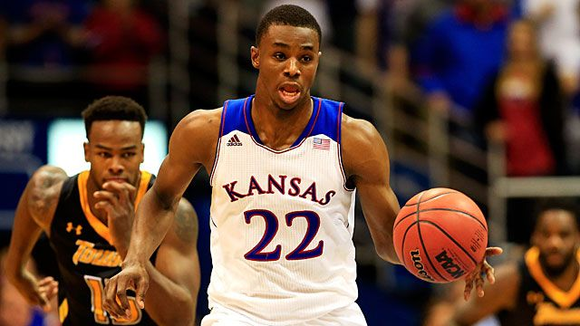 Andrew Wiggins #22 of the Kansas Jayhawks