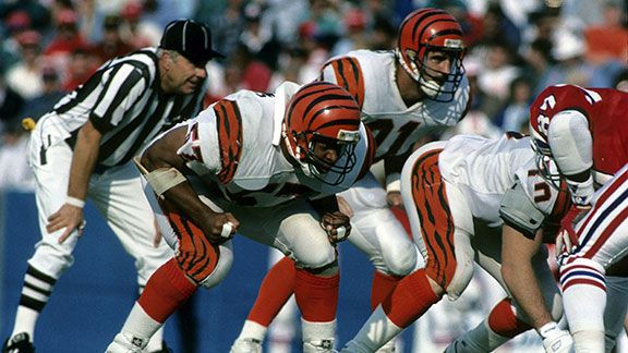 Cincinnati Bengals linebacker Reggie Williams (57) during a game in 1988. (Photo by Al Kooistra/Getty Images) *** Local Caption ***