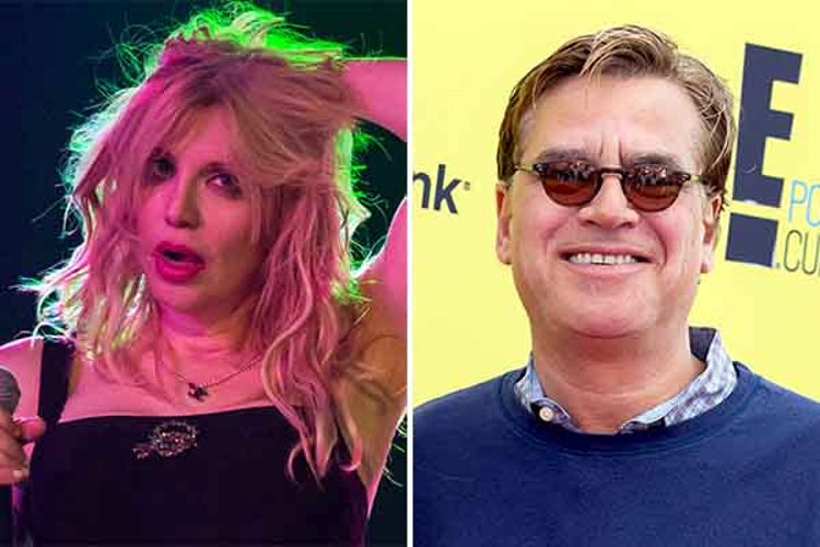 Aaron Sorkin and Courtney Love