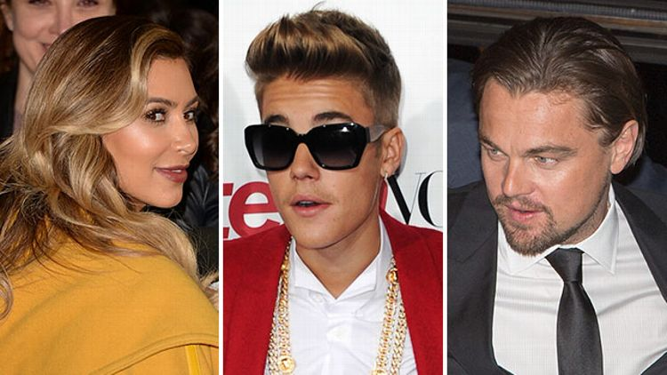 Kim Kardashian, Justin Bieber, Leonardo DiCaprio