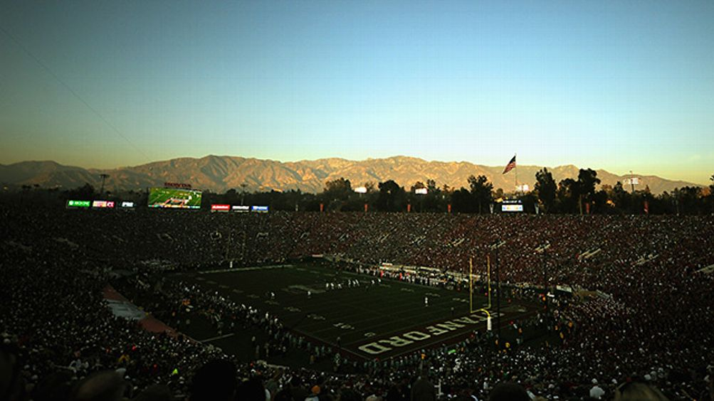 Michigan State and Stanford play in the Rose Bowl