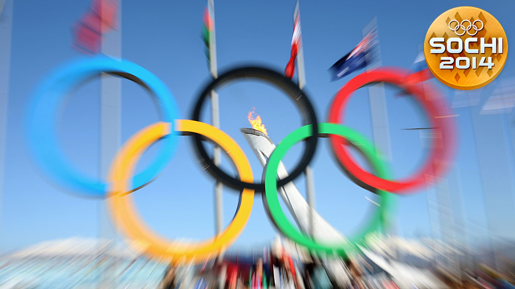Olympic Rings and the Olympic flame