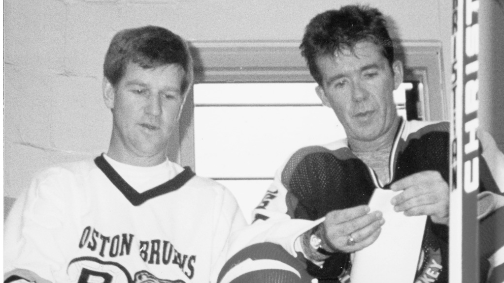 Alan Thicke with NHL great Bobby Orr