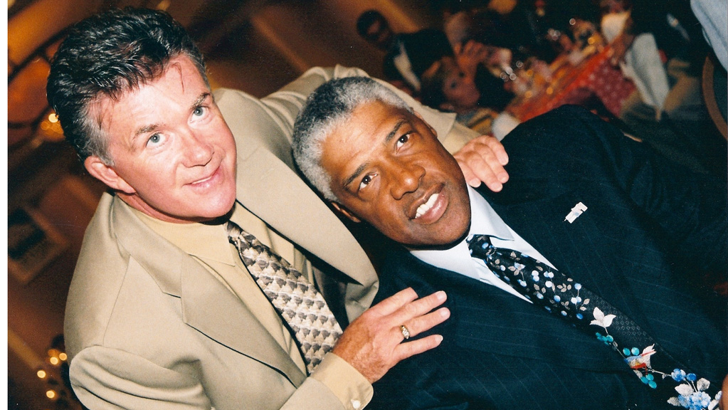 Alan Thicke and Julius Erving