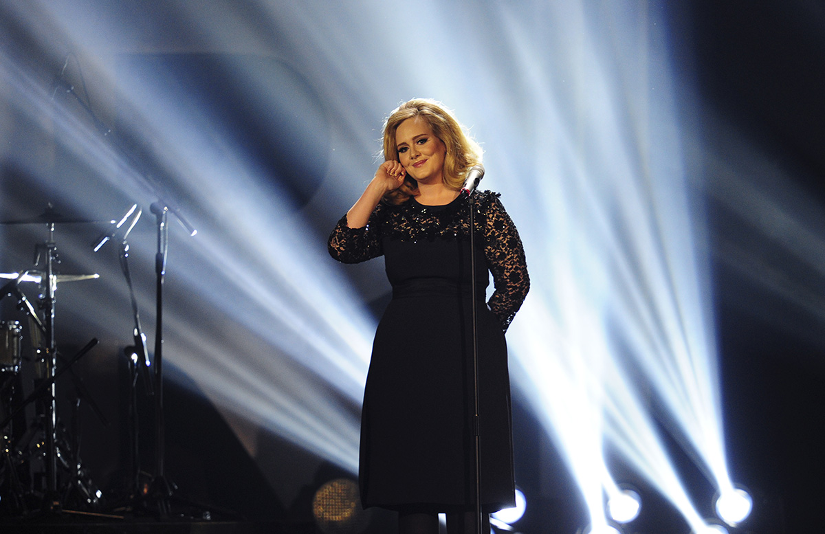 British singer-songwriter Adele performs