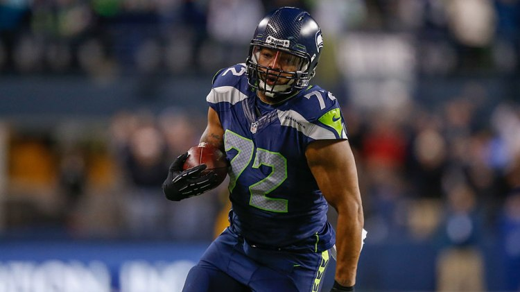 Defensive end Michael Bennett #72 of the Seattle Seahawks