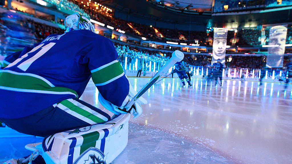 Eddie Lack #31 of the Vancouver Canucks