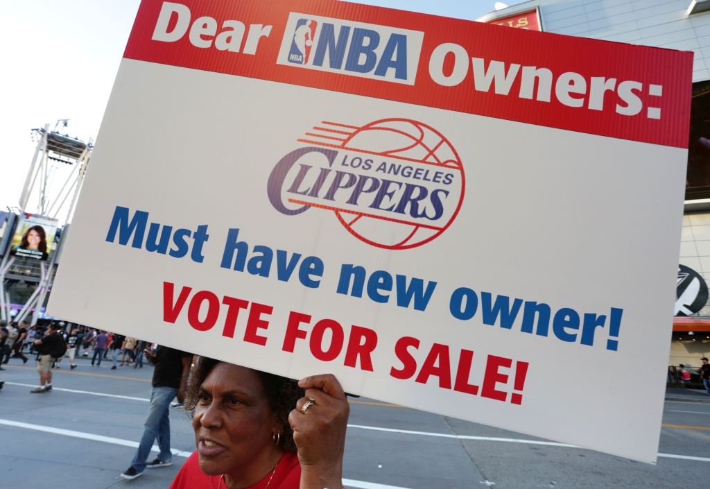 Demonstrators Protest Racist Comments Made By L.A. Clippers Owner Donald Sterling Before Playoff Game