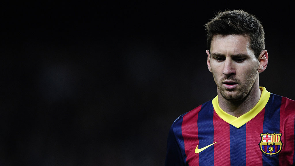 Barcelona's Argentinian forward Lionel Messi