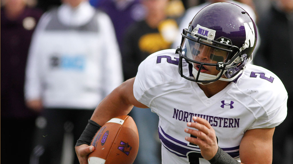 Quarterback Kain Colter #2 of the Northwestern Wildcats