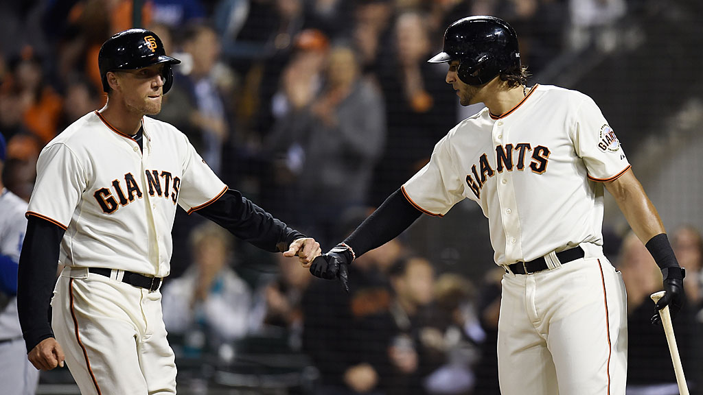 Hunter Pence and Michael Morse