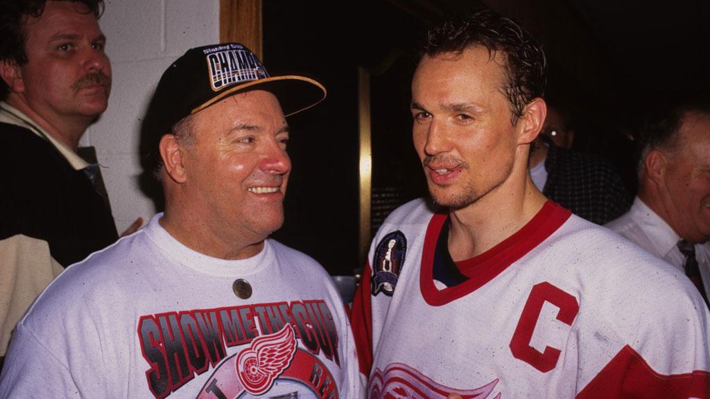 Scotty Bowman (L) and Steve Yzerman (R)