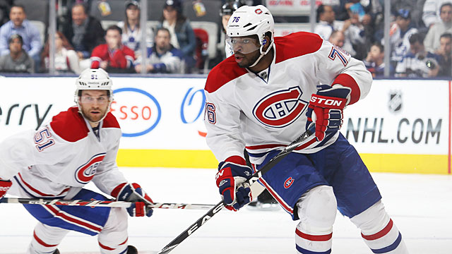 P.K. Subban #76 of the Montreal Canadiens