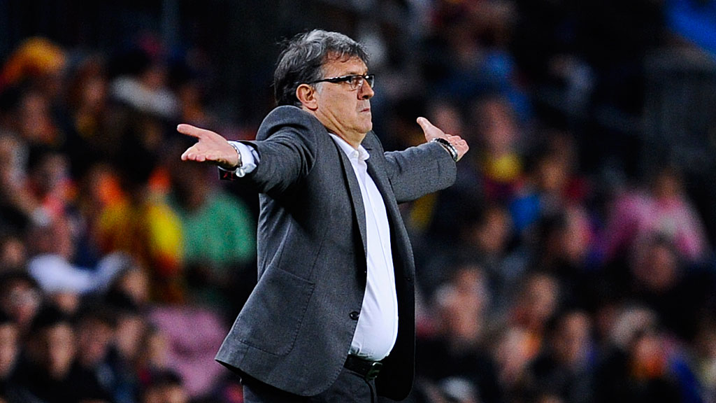 Head coach Gerardo 'Tata' Martino