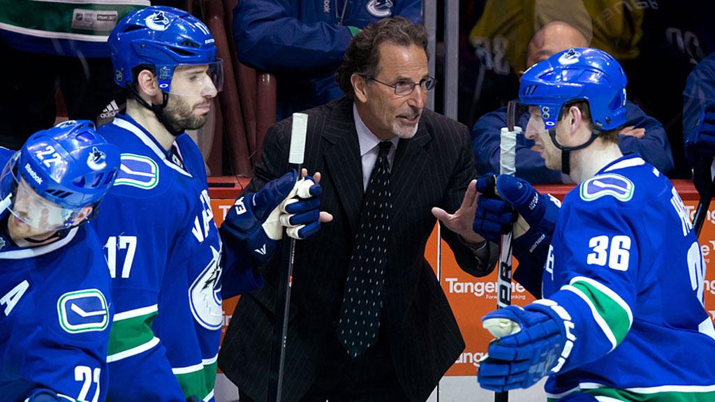 Vancouver Canucks' head coach John Tortorella