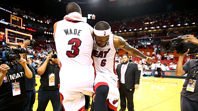 Dwyane Wade #3 and LeBron James