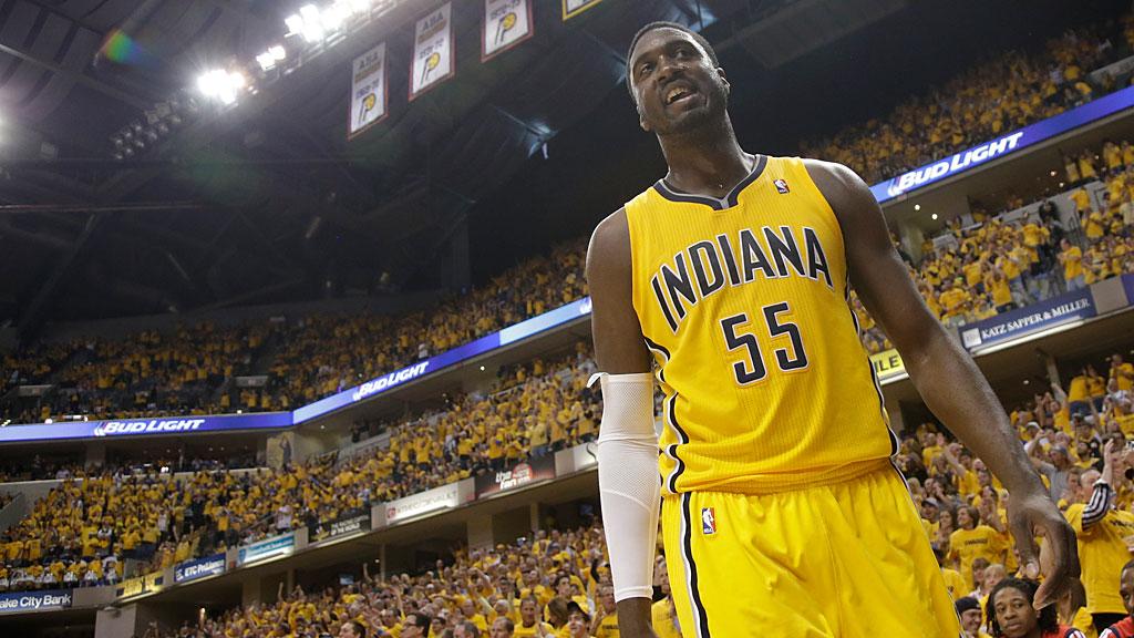 Indiana Pacers center Roy Hibbert