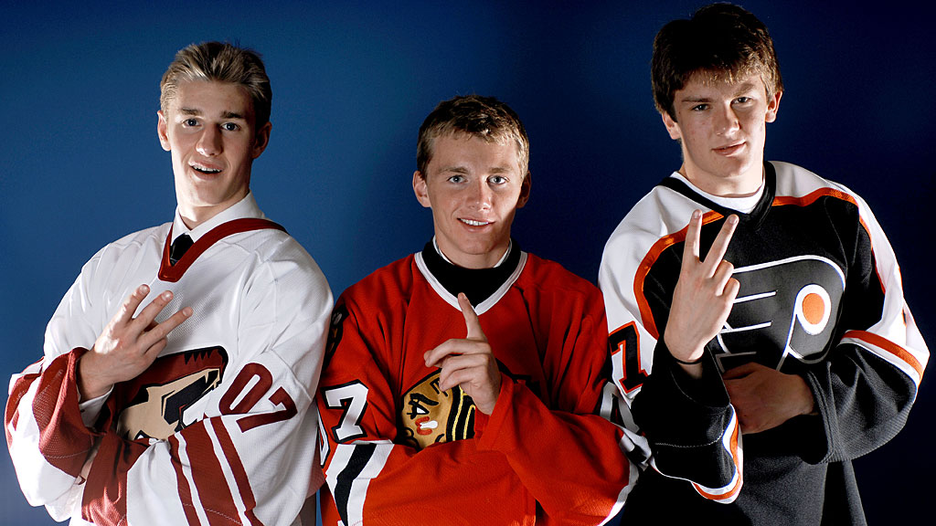 first overall pick Patrick Kane of the Chicago Blackhawks