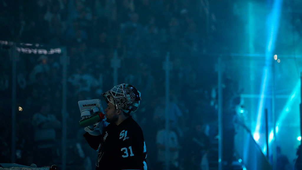 Antti Niemi #31 of the San Jose Sharks