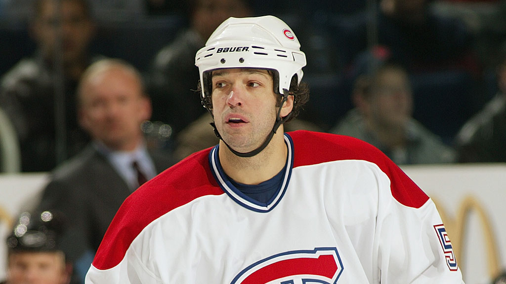 Stephane Quintal #5 of the Montreal Canadiens