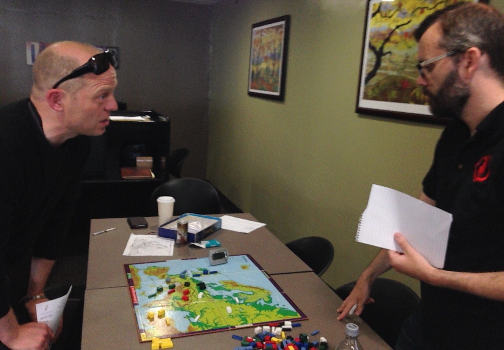 Toby Harris and Matt Shields playing Diplomacy