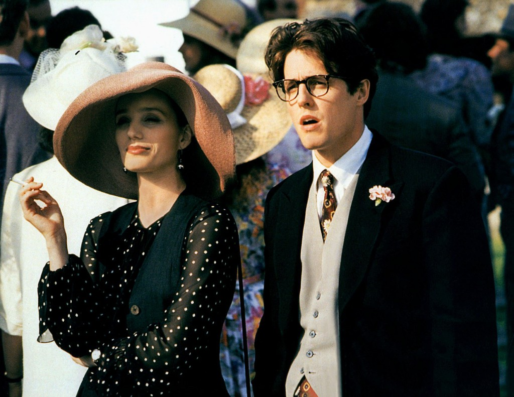 KRISTIN SCOTT THOMAS & HUGH GRANT FOUR WEDDINGS AND A FUNERAL (1994)