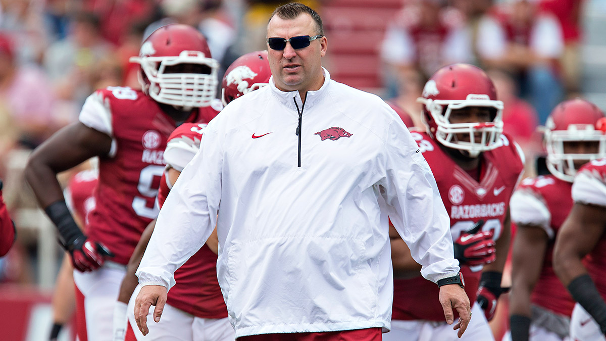 Bret Bielema's Razorbacks came alive late last year behind a suffocating offensive line.