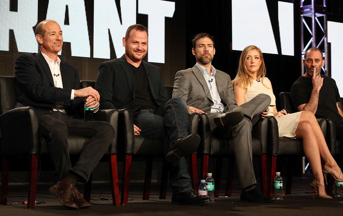 Howard Gordon, Gideon Raff, Adam Rayner, Jennifer Finnigan and Ashraf Barhom of 'Tyrant' in July.