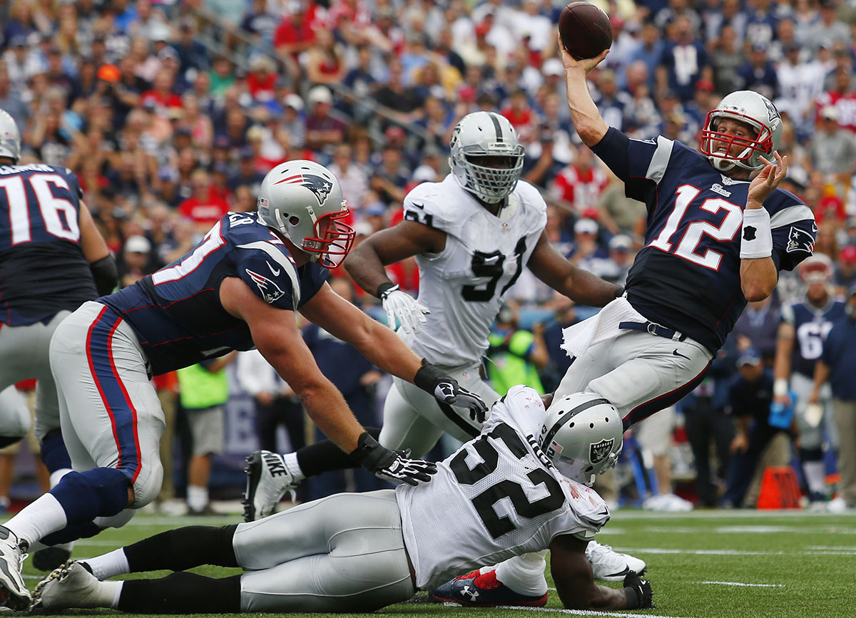 New England Patriots Vs. Oakland Raiders At Gillette Stadium