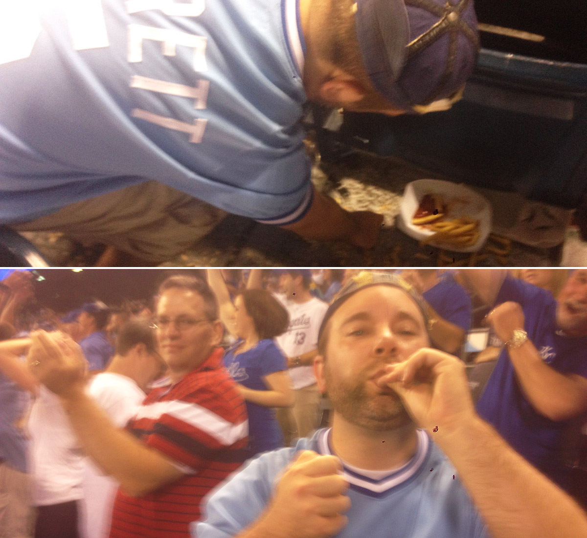 The aforementioned peanut-eating Royals fan gladly accepts his punishment. Rany Jazayerli/Grantland