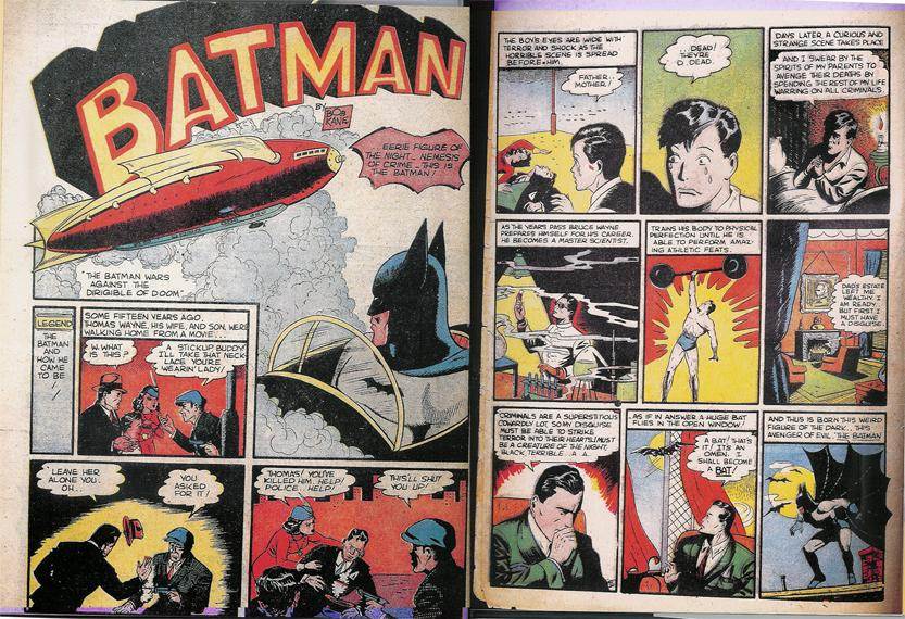 The first depiction of the Wayne murders, Detective Comics #33, November 1939