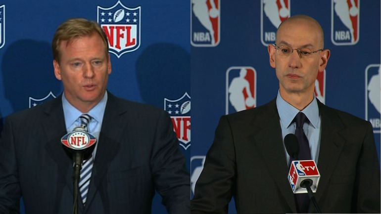 Roger Goodell and Adam Silver