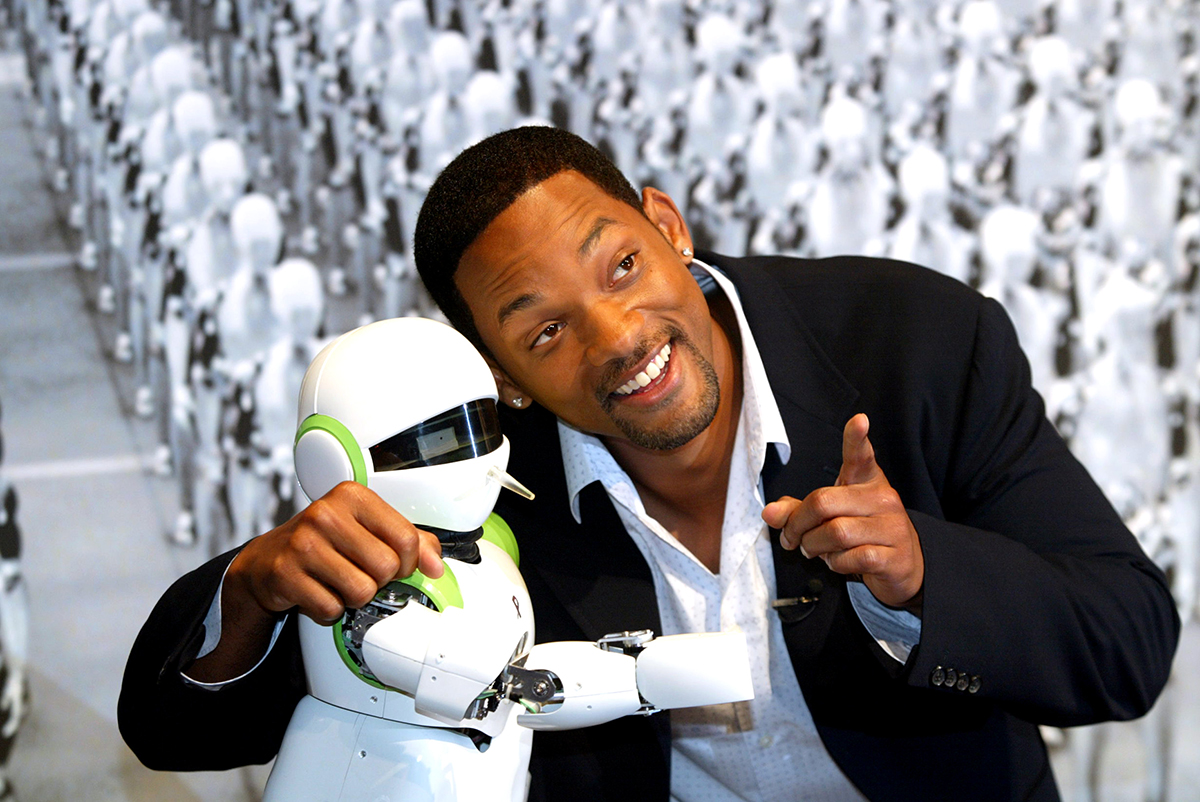 Will Smith Attends 'I,Robot' Press Conference