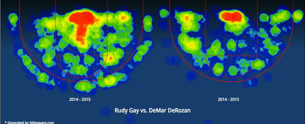 Gay_DeRozan Heat Map