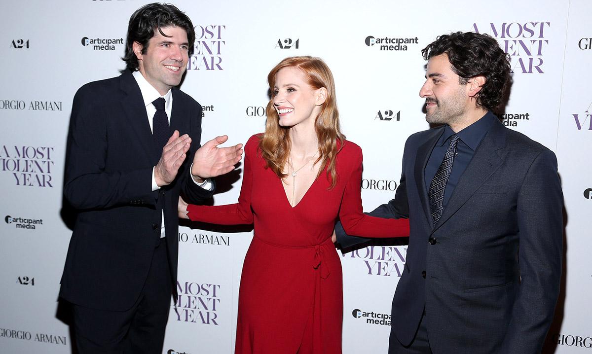 Giorgio Armani Presents The New York Premiere Of A24's A MOST VIOLENT YEAR - Arrivals