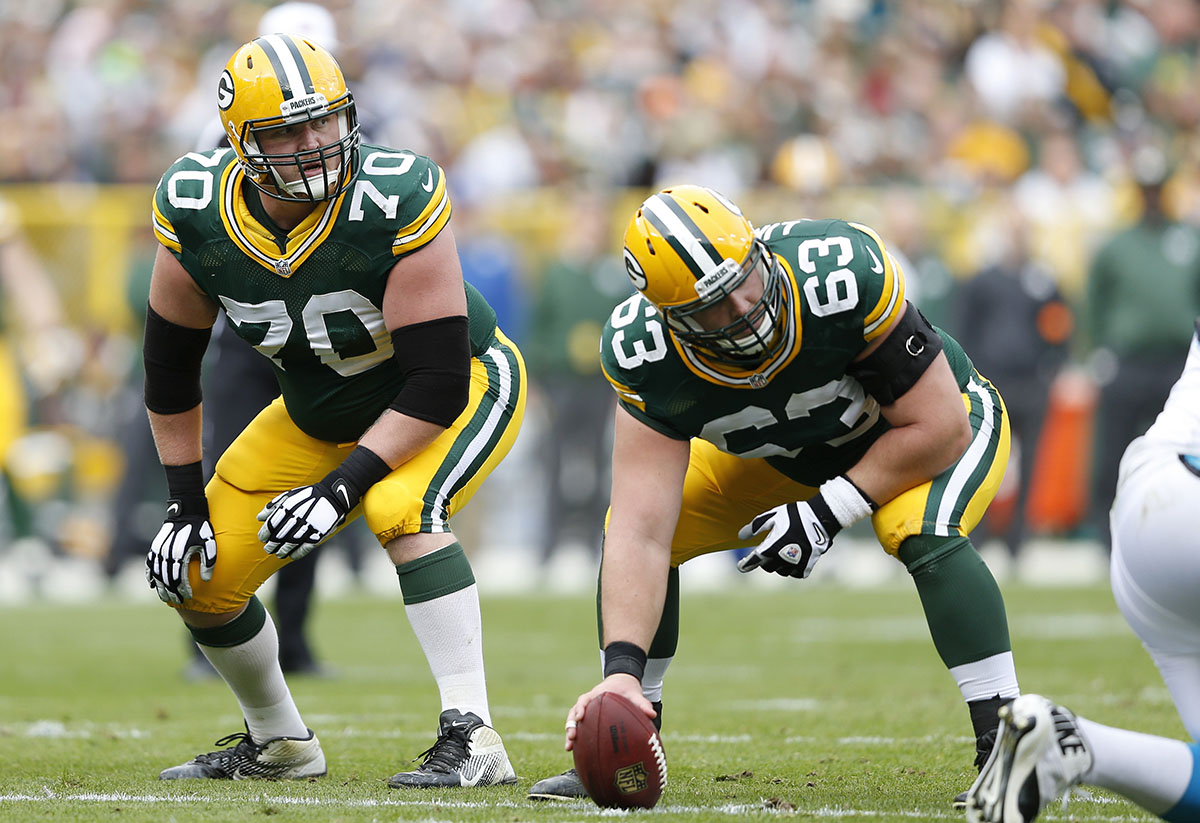 Right guard T.J. Lang (70)