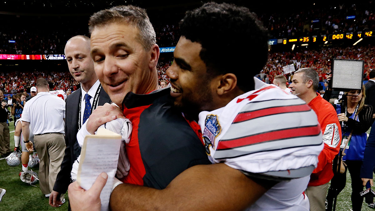 urban-meyer-ezekiel-elliott-sugar-bowl-tri