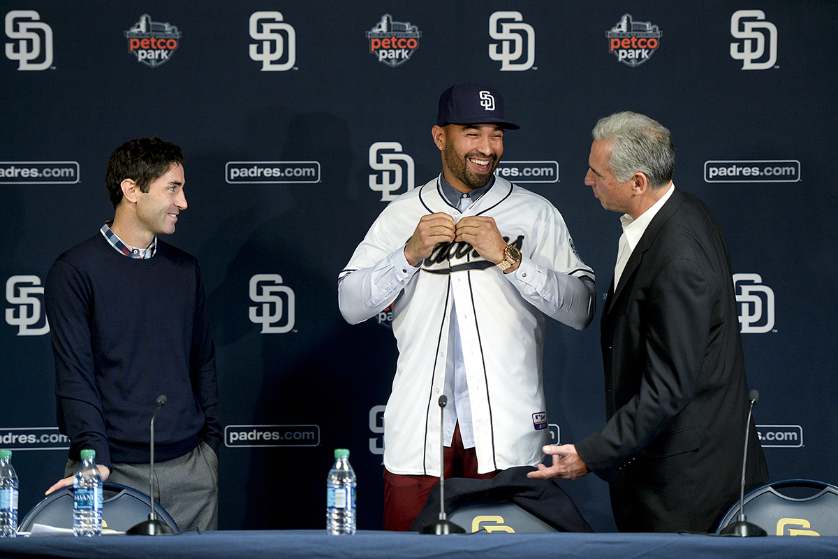 San Diego Padres Introduce Matt Kemp
