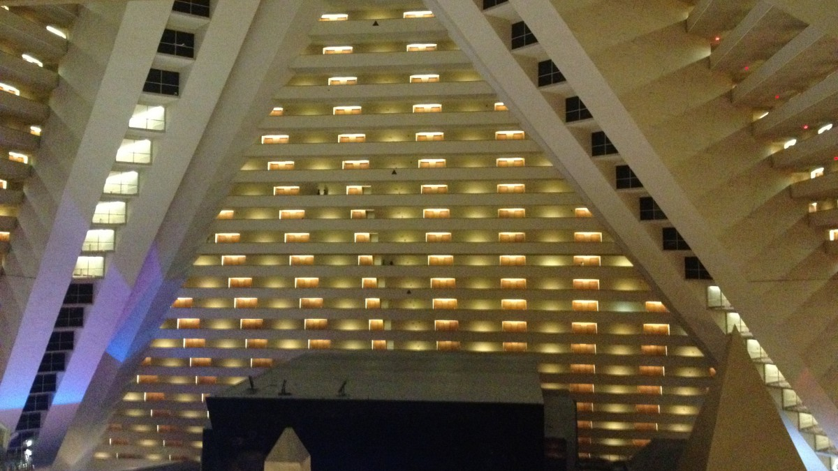 The interior of the Luxor.