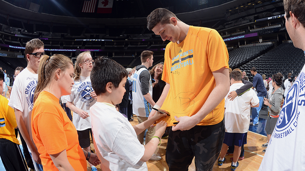 Denver Nuggets Host Special Olympics Clinic