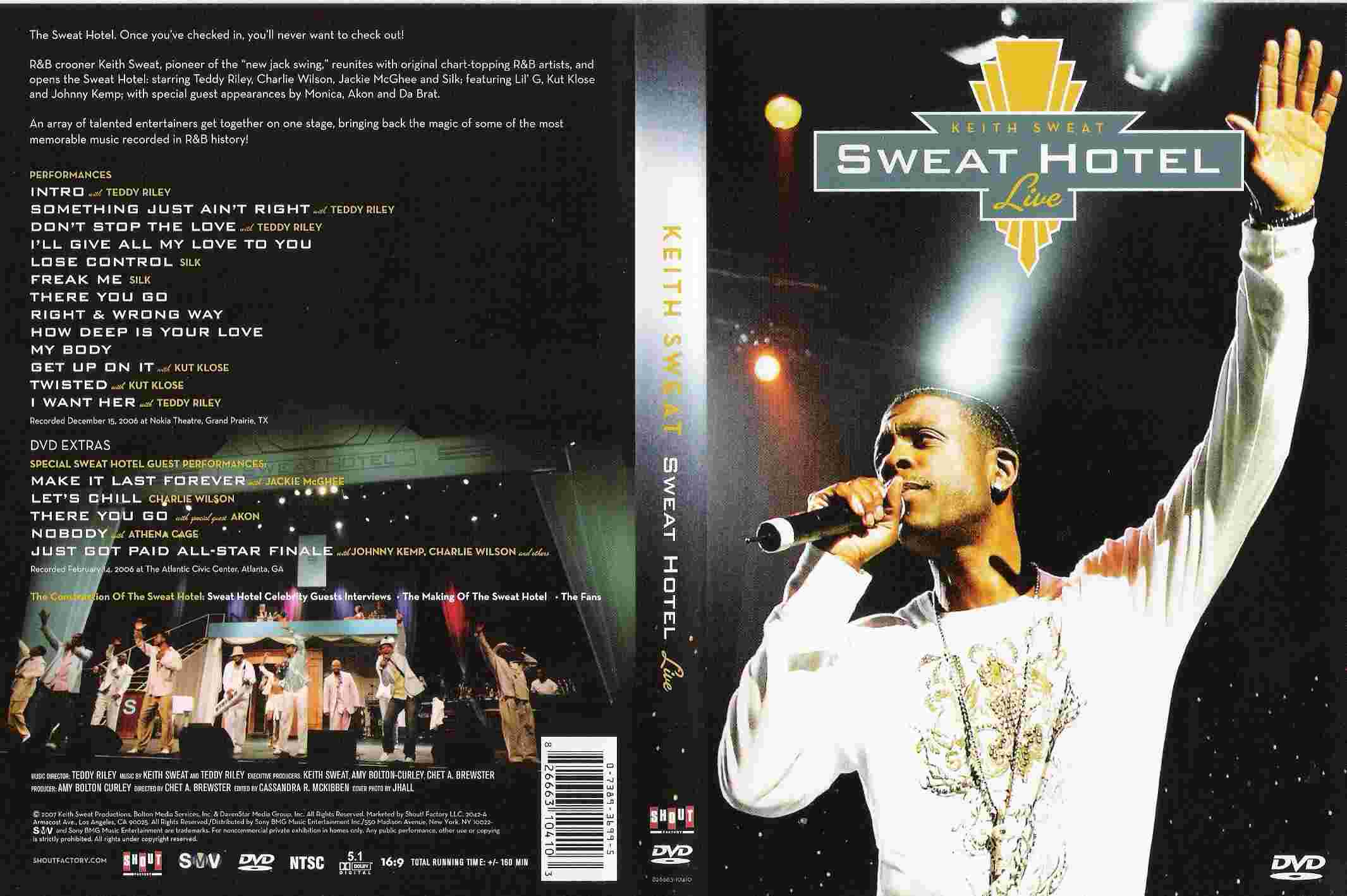 Keith Sweat - Sweat Hotel Live R1 - Front